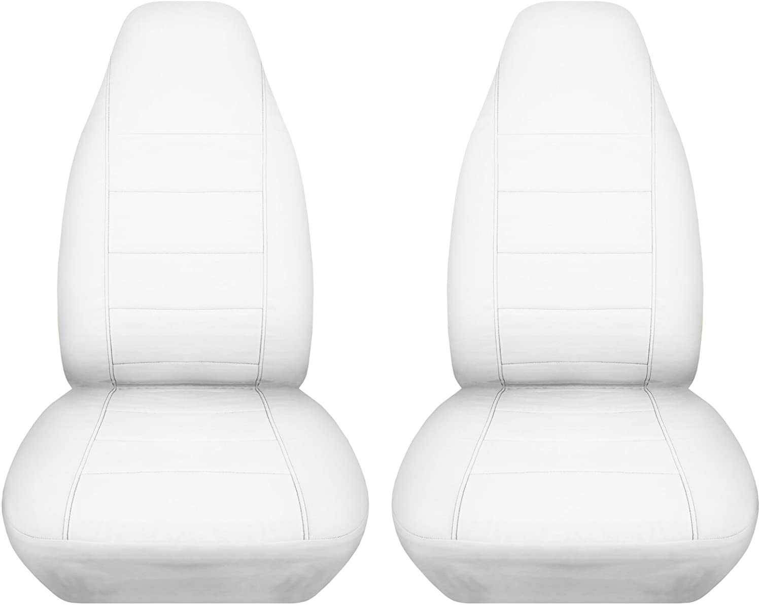 How To Make Car Seat Covers >> Amazon Com Solid Car Seat Covers White Semi Custom Fit Front