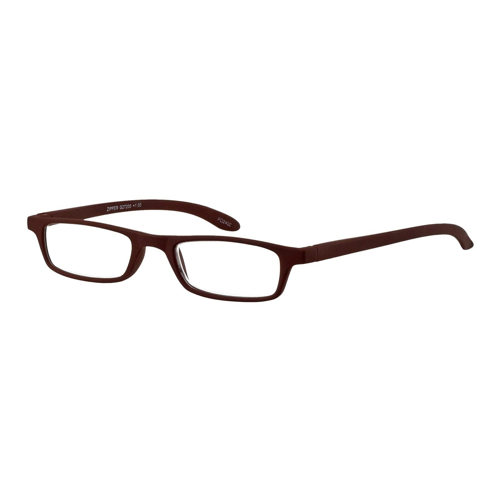 You Rectangular Reading Eyeglasses Brown Zipper