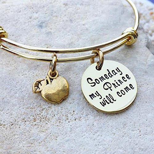 - Disney - Disney Jewelry - Disney Bangle - Gold Bangle - Snow White - Someday my Prince will come