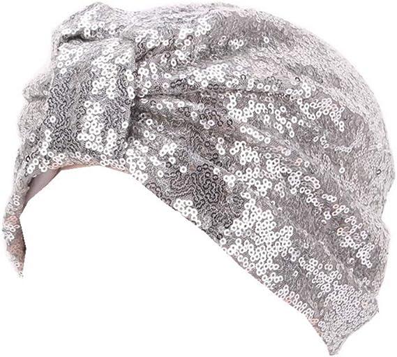 Bigood Islamique Turban Bonnet Fleur Chapeau Perte de Cheveux Cancer Chimio