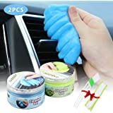 2 PCS Magic Gel for Car Interior Cleaner Detailing Tools Keyboard Cleaner Detail Removal Cleaning Putty Universal Dust Cleaner for Auto Laptop Home