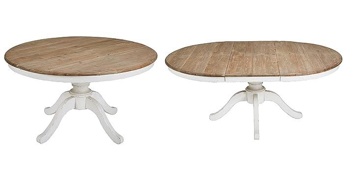 Amazon mesas comedor | mesa comedor redonda extensible madera 120 cm ...