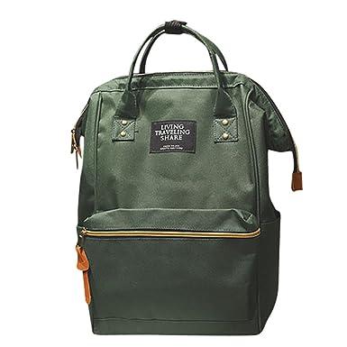906152db09 DEELIN Clearance Sale Women Men Unisex Solid Zipper Nylon Backpack School  Travel Bag Laptop Bag Lovers