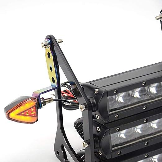 Welltobuy Soporte de Luces Delanteras para Motocicletas con retrovisor Modificado Modificado Holder para Reflector