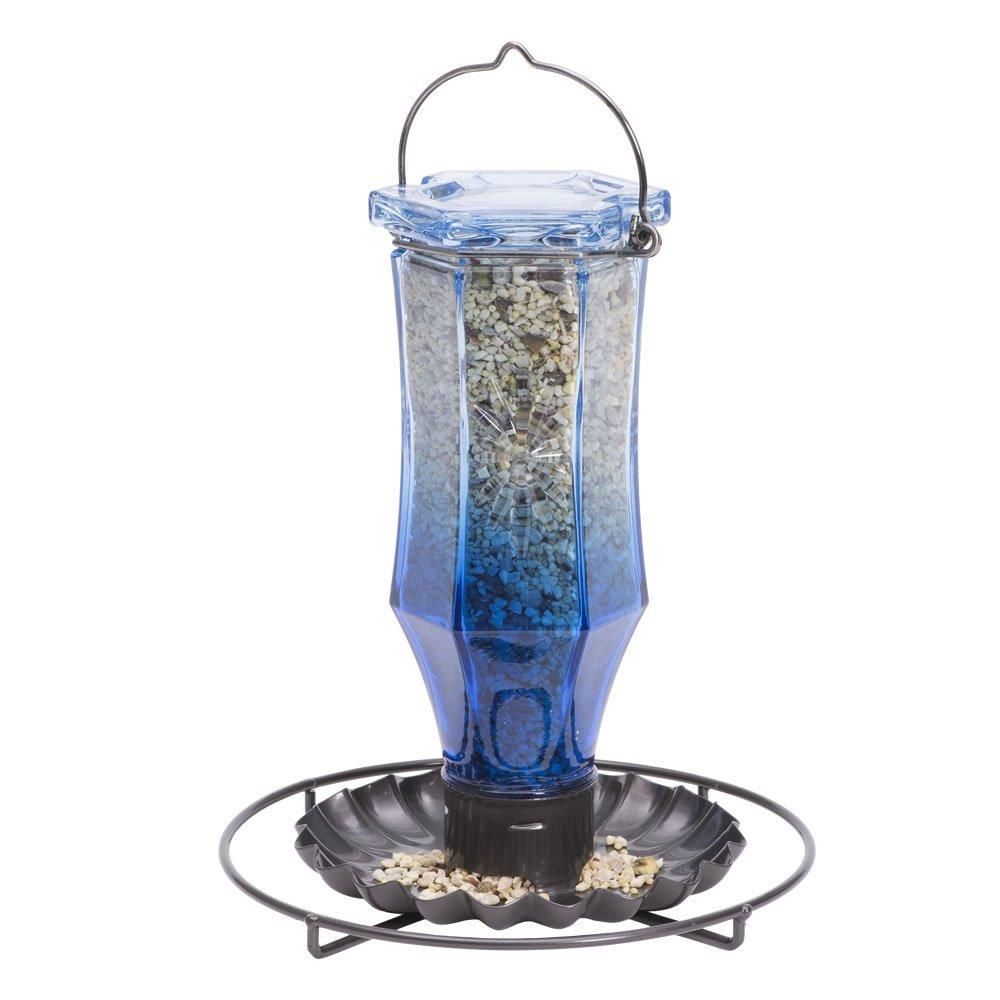 Perky-Pet Sapphire Starburst Vintage Glass Wild Bird Feeder 8138-2