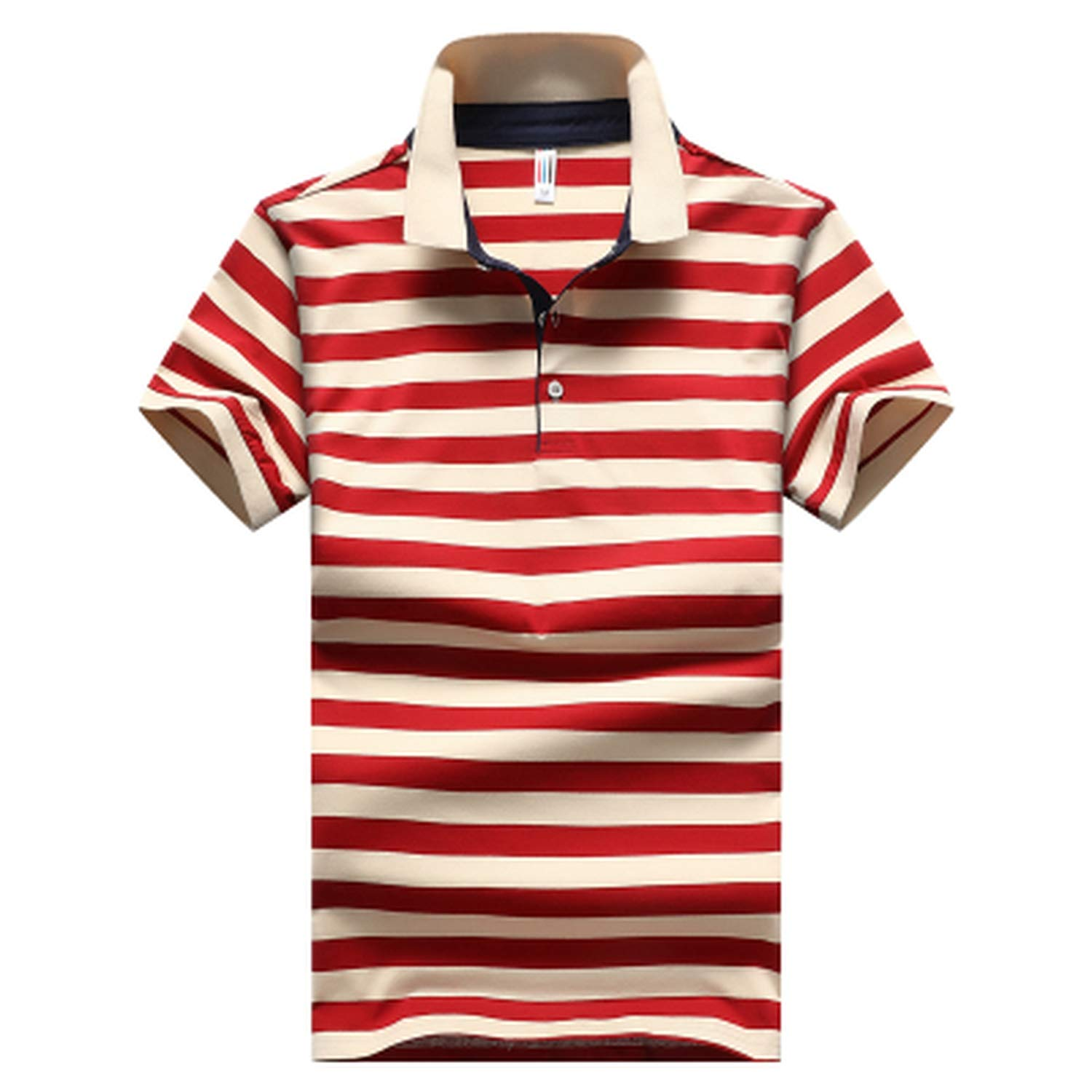 EspTmall New Men 95/% Cotton Fashion Striped Summer Short-Sleeve
