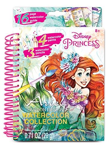 Disney Princess As Mermaids (Disney Princess Ariel Fashion Design Watercolor Paint Art Kit and Stickers)
