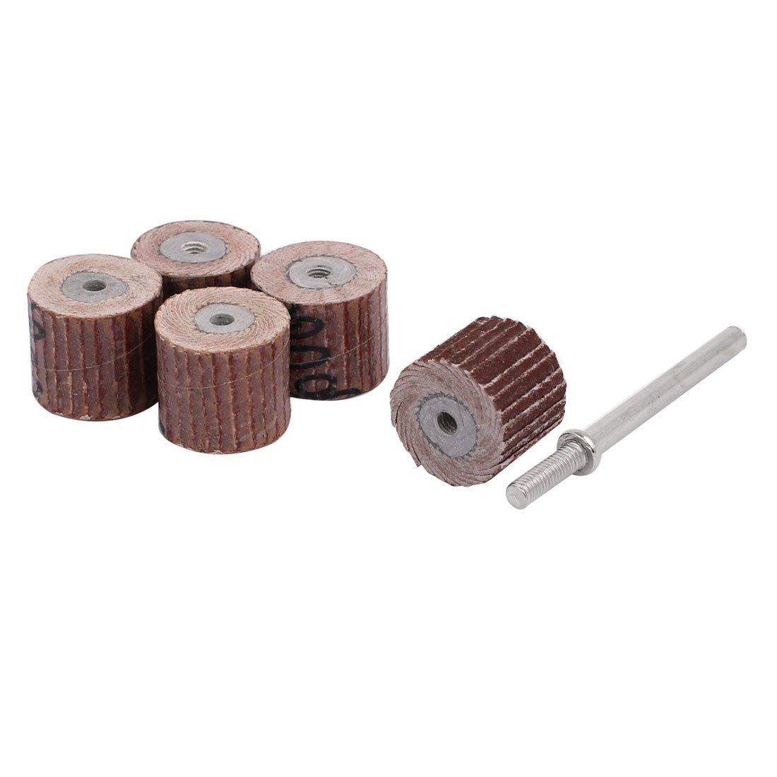 uxcell 600 Grit 13mm Dia Sandpaper Flap Sanding Wheel Grinding Polishing Tool 5pcs
