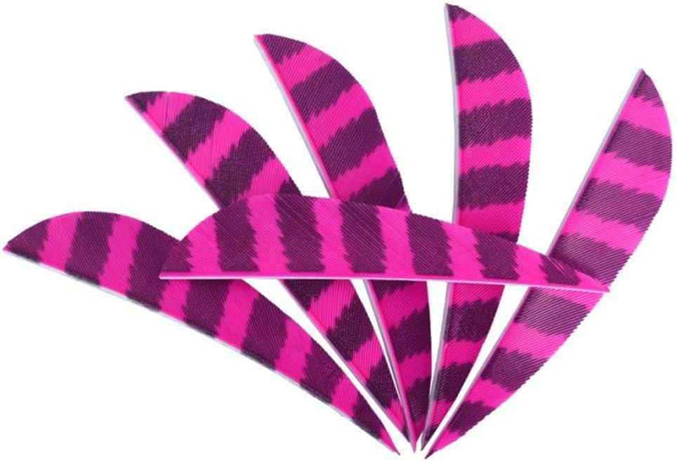 Perfeclan 12 Pieces Archery Arrow Vanes Waterdrop Shape Turkey Feather Vane 3 Inch Fletching for DIY Arrow Shafts