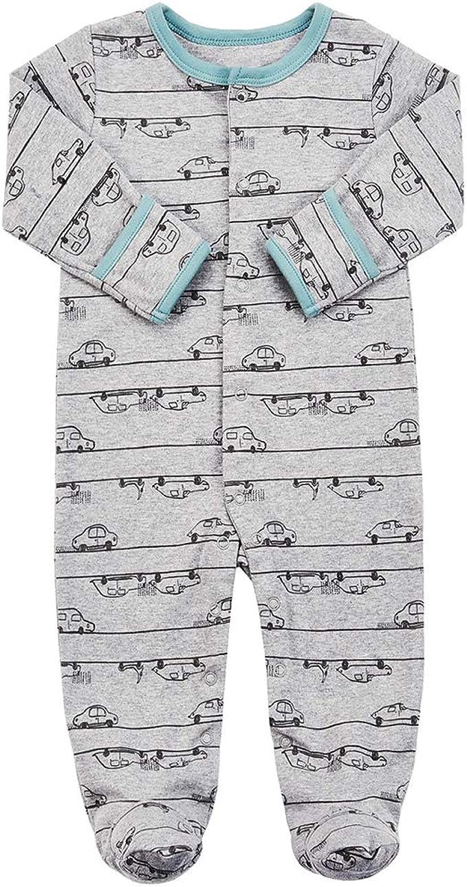 IWOEDJMQO Funny Long Sleeve Footed Sleep Save The Bees Pajama Funny Gift for Cute Baby Boy Girl