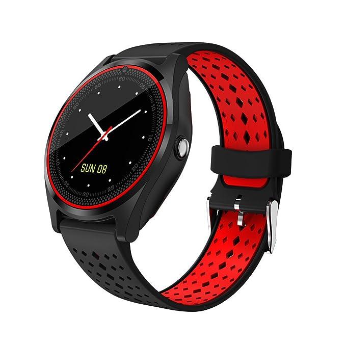 3 opinioni per 1,22 inch V9 Smart Watch, ultra-sottile tocco Bluetooth Watch con slot per