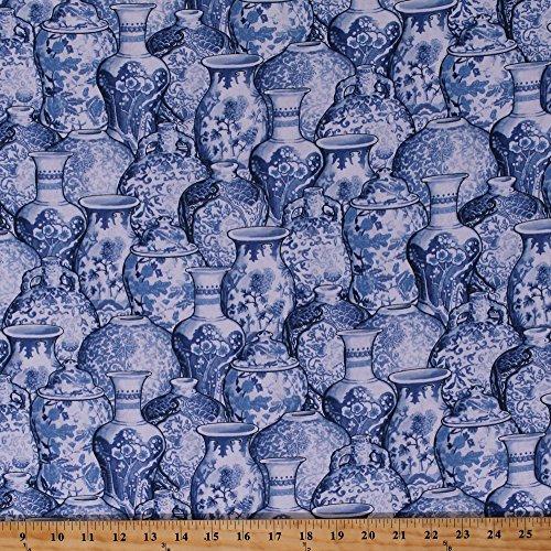 Cotton Ginger Jars Blue and White Ceramics