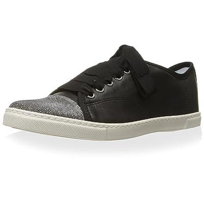 LANVIN Women's Low Sneaker, Black, 38 M EU/8 M US | Fashion Sneakers