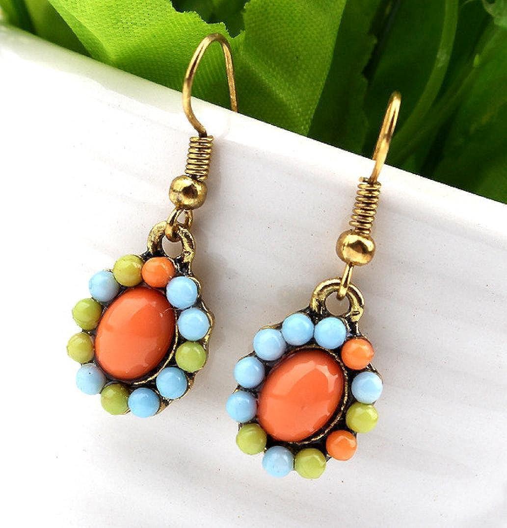 Becoler Flower Crystal Bubble Women Necklace Earrings Jewelry Set