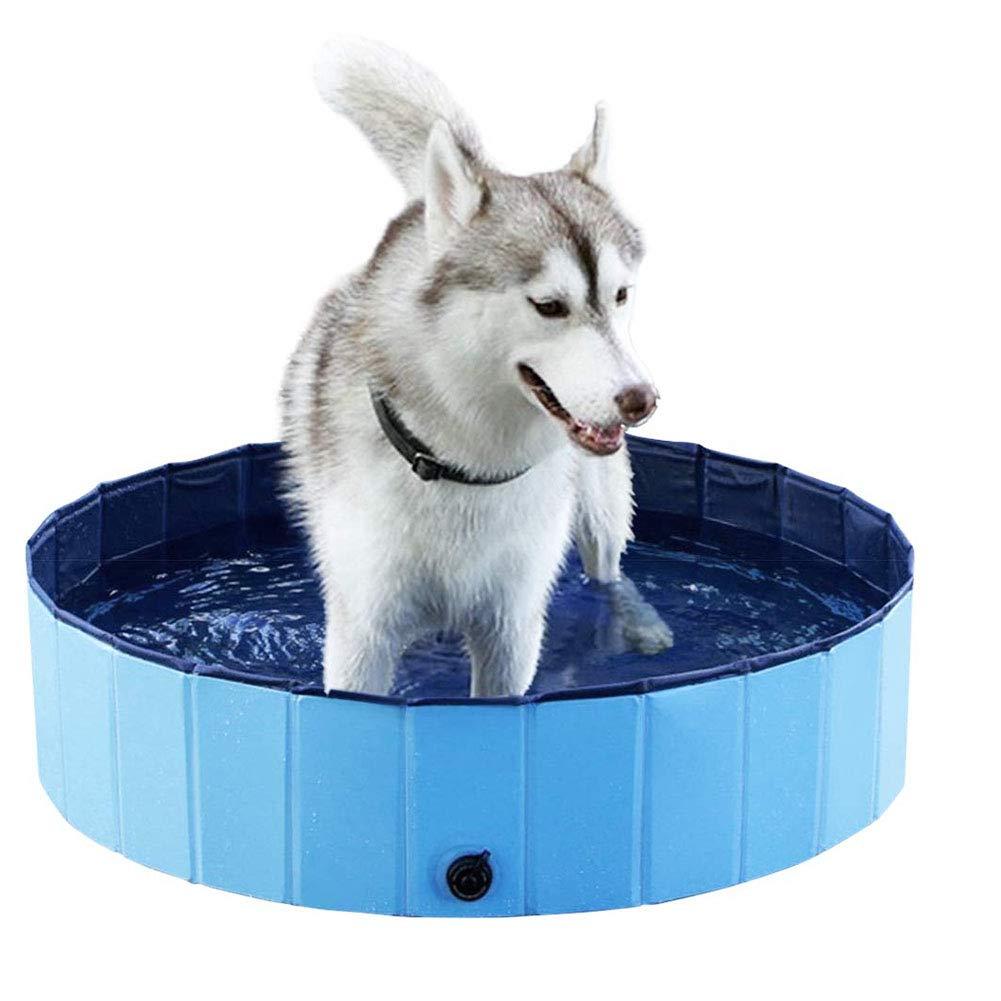 Cacoffay Piscina Portatile per Cani e Gatti Accessorio per Il Lavaggio di vasche da Bagno all'aperto da Interno Bagno Estivo Pieghevole,S