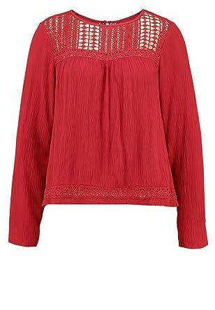 Even ODD Blouse pour Femme Effet froissé en Noir ou Rouge - Top Chic ... 594a242a4c9