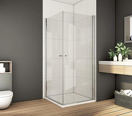 Bath-mann - Mampara de Ducha para Esquina, Puerta de Esquina, Puerta de Ducha de 6 mm,