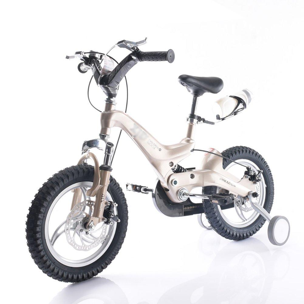 子供用自転車14 16インチ子供用自転車3-4-6-8歳男の子と女の子マウンテンベイビーキャリーホワイトイエローブルーレッドゴールド B07DYDV5F5 16 inch|ゴールド ゴールド 16 inch
