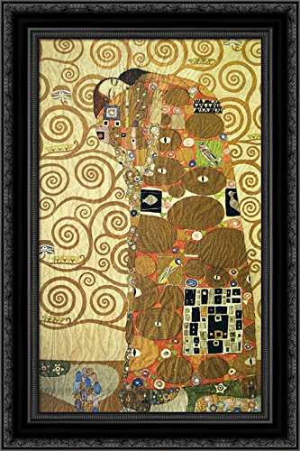 - Cartoon for The Frieze of The Villa Stoclet in Brussels Fulfillment 24x16 Black Ornate Wood Framed Canvas Art by Gustav Klimt
