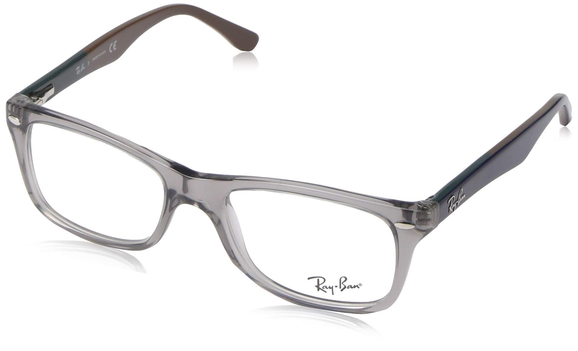 Ray-Ban RX5228 Square Eyeglass Frames, Grey/Demo Lens, 55 mm by Ray-Ban