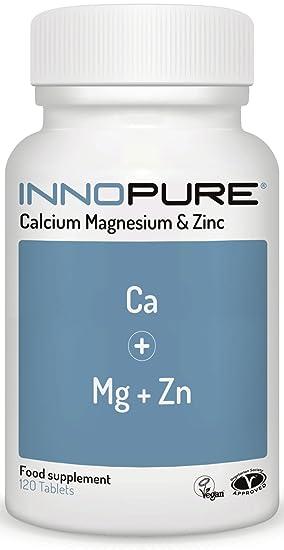 Calcium Magnesium Zinc 120 Tablets Vegan Vegetarian Society Approved