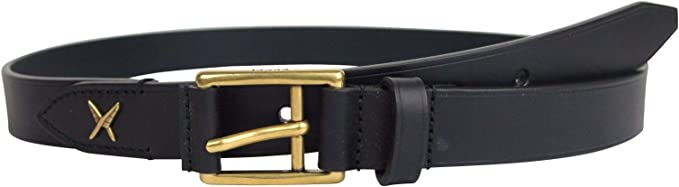 Gucci Men's Feather Navy Blue Leather Belt Gold Buckle Detail 375182 4009 (100/40)