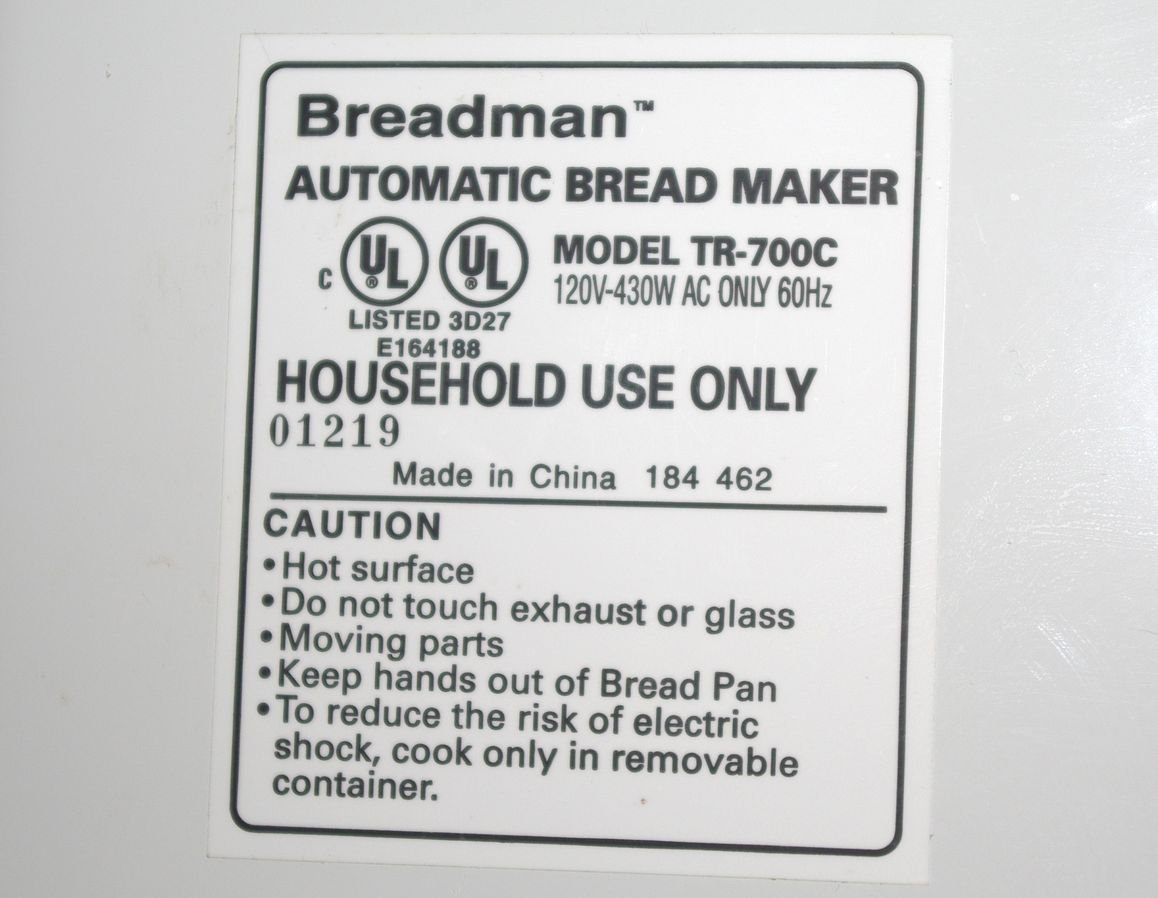 amazon com breadman plus tr700c kitchen dining rh amazon com Bread Making Machine Breadman Plus Recipes