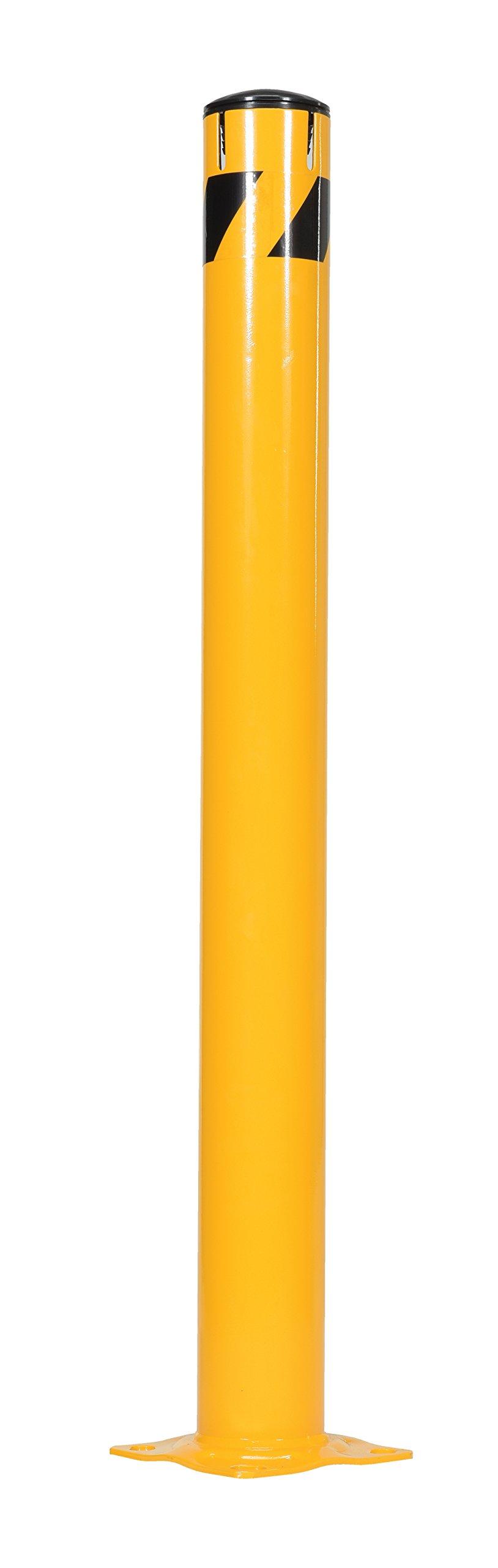Vestil BOL-JK-48-4.5 Steel Pipe Bollard with Slots, 48'' x 4.5'', Yellow