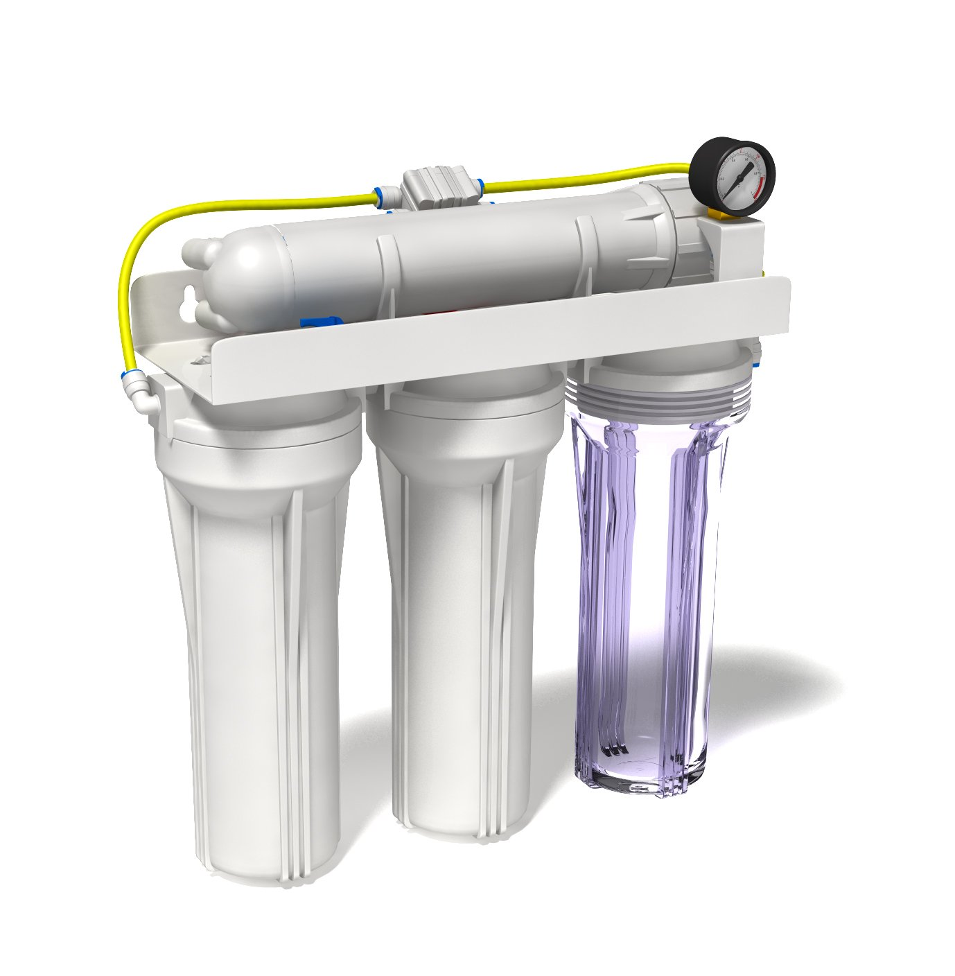 Aquatic Life 4-Stage 100 GPD Junior Reverse Osmosis Filter System