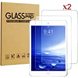 New iPad 9.7 (2017) / iPad Air / Air 2 / Pro 9.7 Screen Protector, H&T 0.3mm 9H Shatterproof Bubble-free Tempered Glass Screen Protector for New iPad 9.7 (2017) / iPad Air /Air 2/ Pro 9.7 inch, 2 Pack