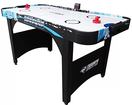 Defense 5u0027 Air Powered Hockey Table With Electronic Scorer, Portable Air  Hockey Table