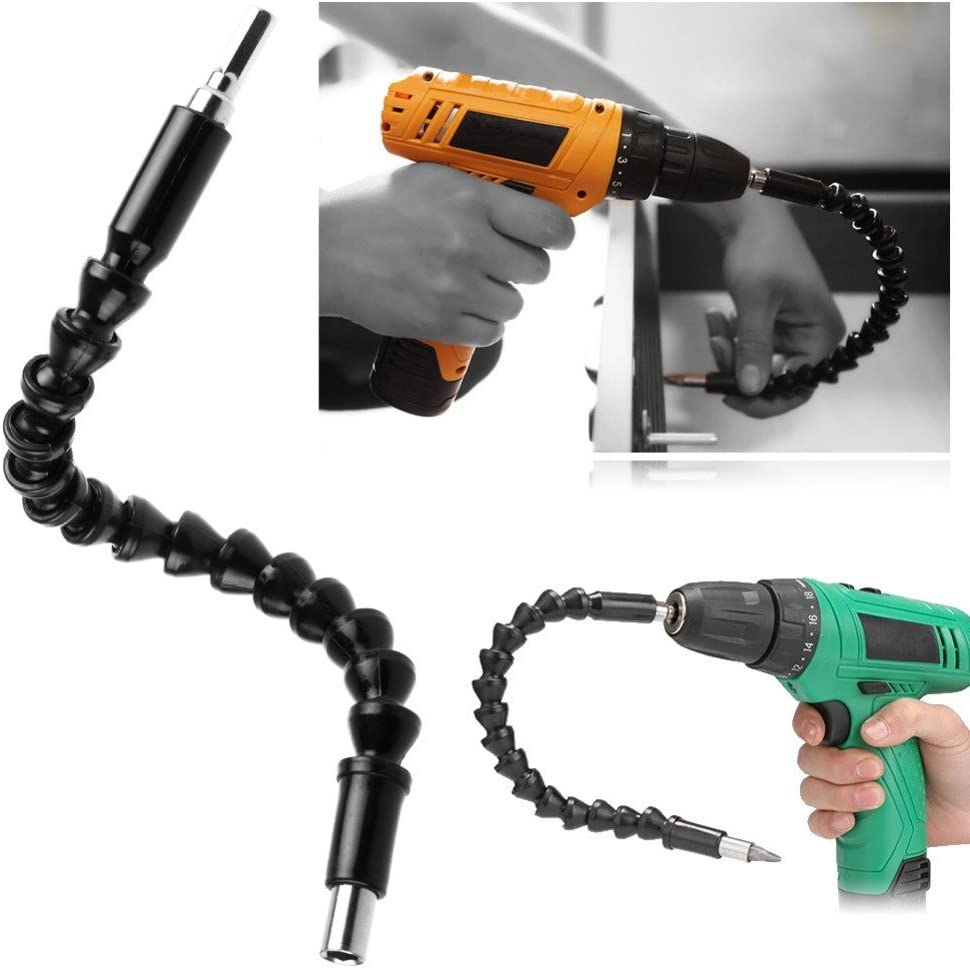 Flexible Shaft Bits Extention Screwdriver Drill Bit Holder Connecting Black P2
