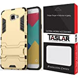 Taslar Samsung Galaxy A9 Pro (2016) Dual Layer Kickstand Back Cover Case - Gold