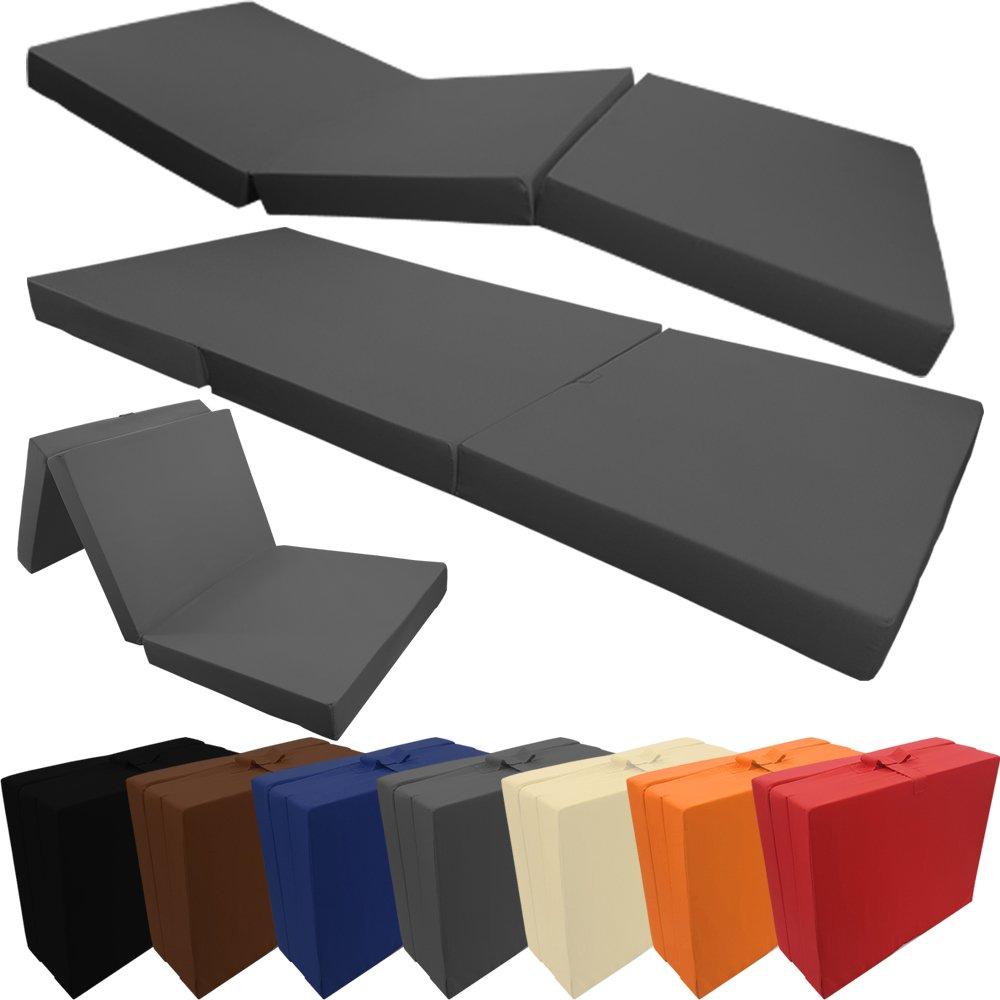 PROHEIM Colchón Plegable Comfort 195 x 80 x 10 cm Cómodo Colchón Plegable Beautissu - Colchón Plegable, tapizado con Microfibra Cama Not Cómoda/ Invitados ...