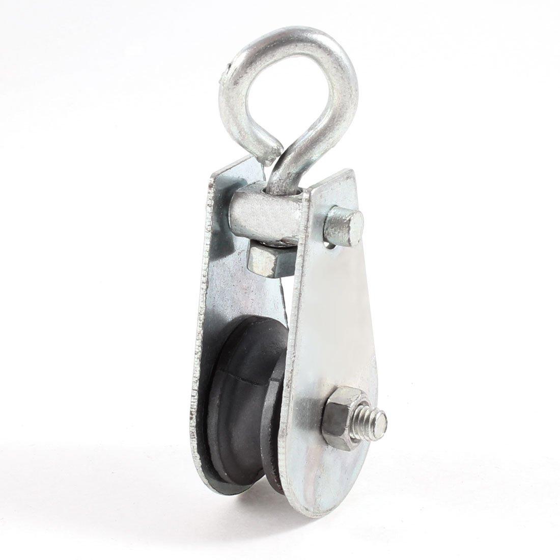 6mm Width 25mm Diameter Single Sheave Swivel Eye Rope Pulley 0.03 Ton Sourcingmap a13070400ux0013