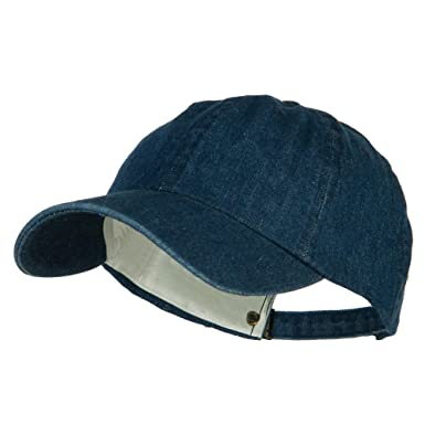 10ace9e2 Mega Cap Cotton Denim Baseball Cap (Navy): Amazon.co.uk: Clothing