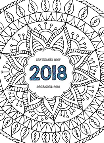 tf publishing color me 16 month monthly planner september 2017 december 2018 18 4018