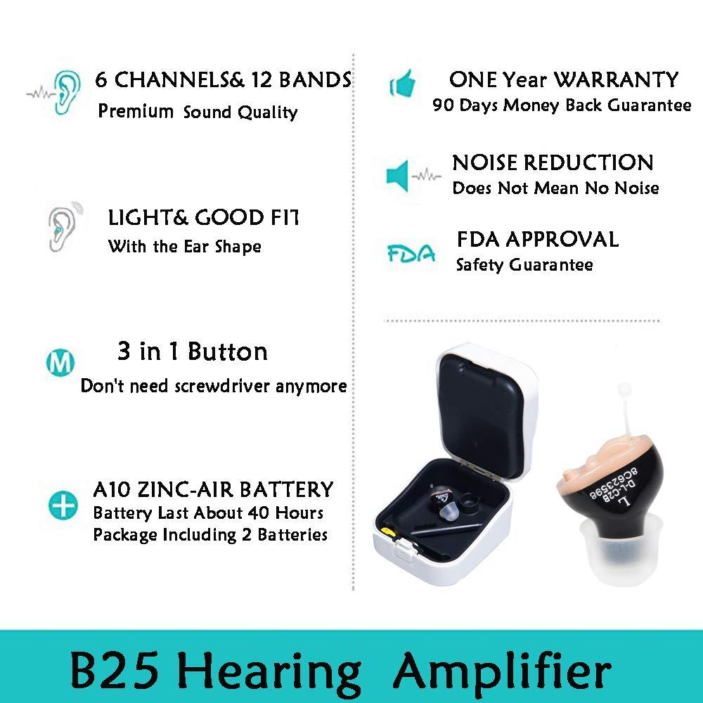 LAIWEN Digital Hearing Amplifier 6 Channels Invisible PSAP Noise Reduction With Volume Control … by LAIWEN (Image #2)