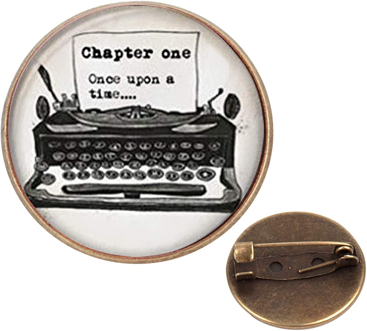 Pinback Buttons Badges Pins Old Typewriter Vintage Writer Lapel Pin Brooch Clip Trendy Accessory Jacket T-Shirt Bag Hat Shoe
