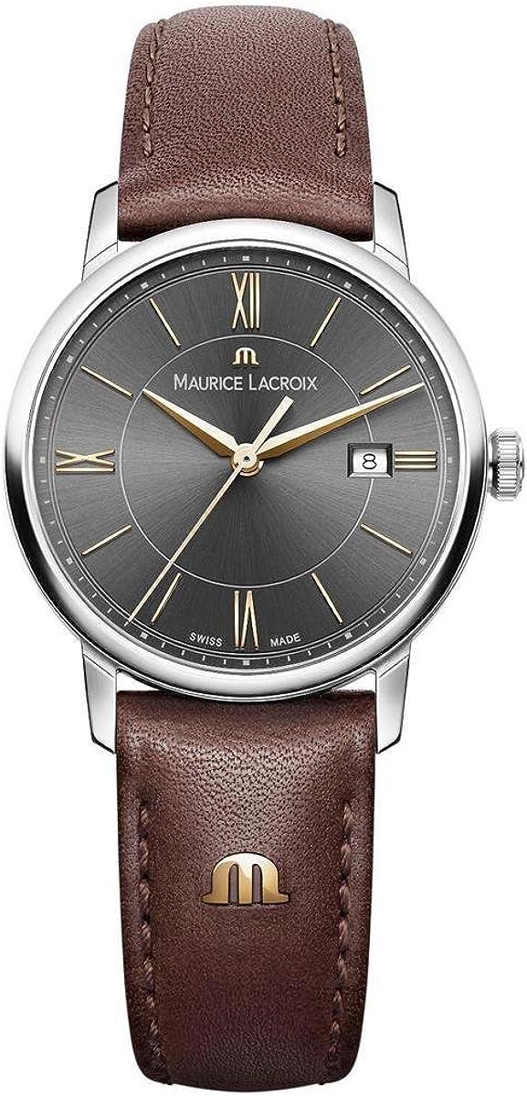 Maurice Lacroix Reloj analógico para Mujeres de Cuarzo con Correa en Cuero EL1094-SS001-311-1