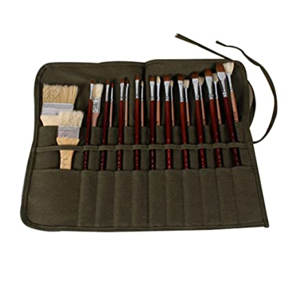 Amazon.com: Pen Brush Bag Organizer Storage Pouch with 22 ...