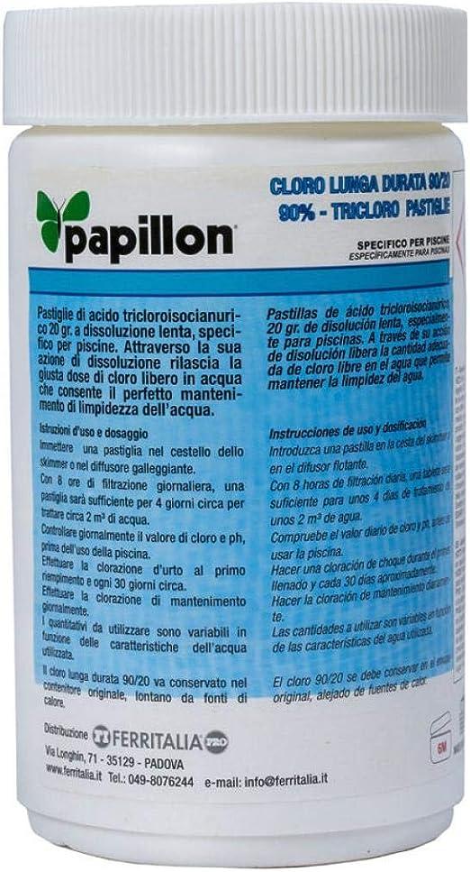 Papillon 8324030 Cloro Lento Mantenimiento 90% Pastillas 20 Gramos ...