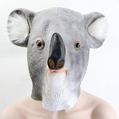Amazon.com: QJXSAN Koala Mask Latex Mask Christmas Mask Prom ...