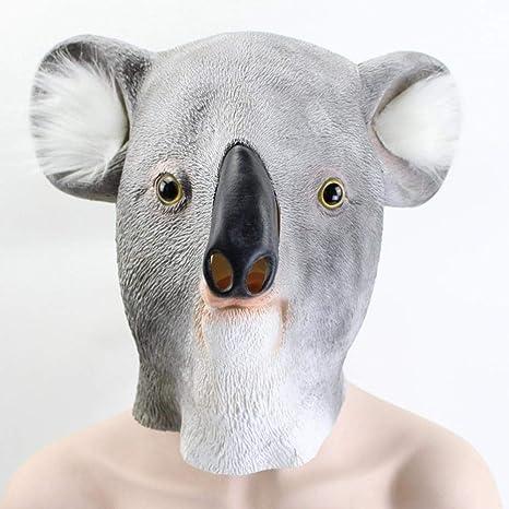 Amazon.com: QJXSAN Koala Mask Latex Mask Christmas Mask Prom ...