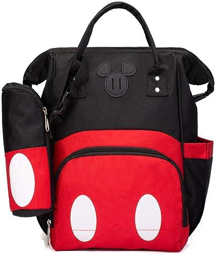 Sac /à langer mignon Mickey Mouse Sac /à dos de voyage multifonction Grande capacit/é