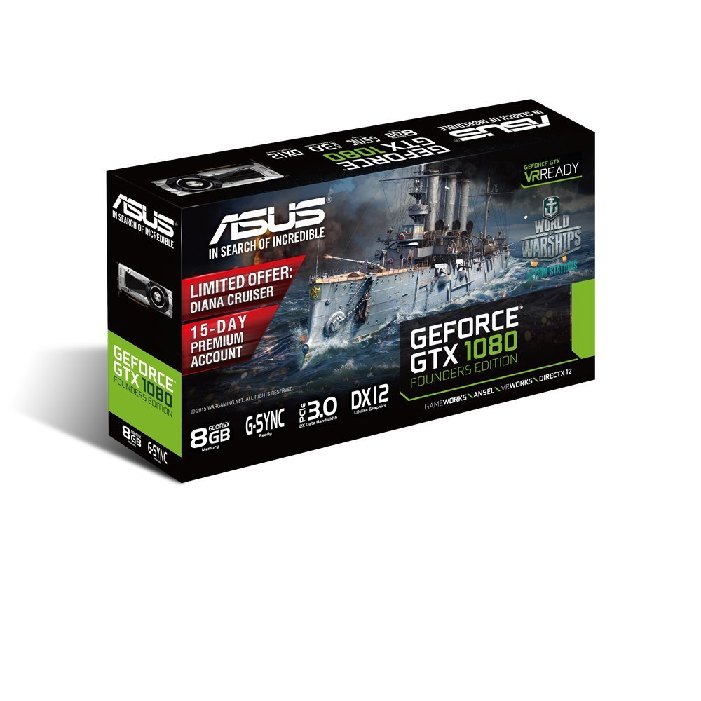 Amazon.com: ASUS GeForce GTX 1080 Founders Edition GTX1080-8G 8GB GDDR5X PCI Express 3.0 (Certified Refurbished): Computers & Accessories