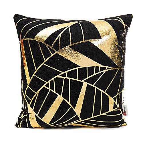 Monkeysell 2018 New products black and gold pillow Home Pillowcases Throw Pillow Cover Love Letter pattern design Rock punk neoclassical style 18 inches(Insert are not included) (S155A5) (Cheap Hearts Wicker)