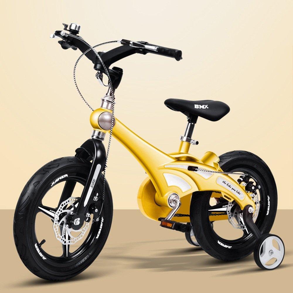 YANGFEI 子ども用自転車 12インチの子供の自転車女子の少年赤ちゃんのバイク2-5歳の自転車ベビーカーの自転車 212歳 B07DX1X4R6イエロー いえろ゜
