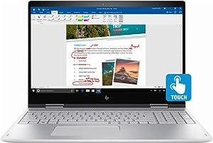 """HP Envy x360 2-in-1 15.6"""" FHD IPS Touchscreen Laptop, Intel 8th Gen i5-8250u Quad-Core, 128GB SSD + 1TB HDD, 8GB DDR4, Backlit Keyboard, 802.11ac WiFi, USB C, HDMI, Bang & Olufsen, 0.8"""" Thin, Win 10"""