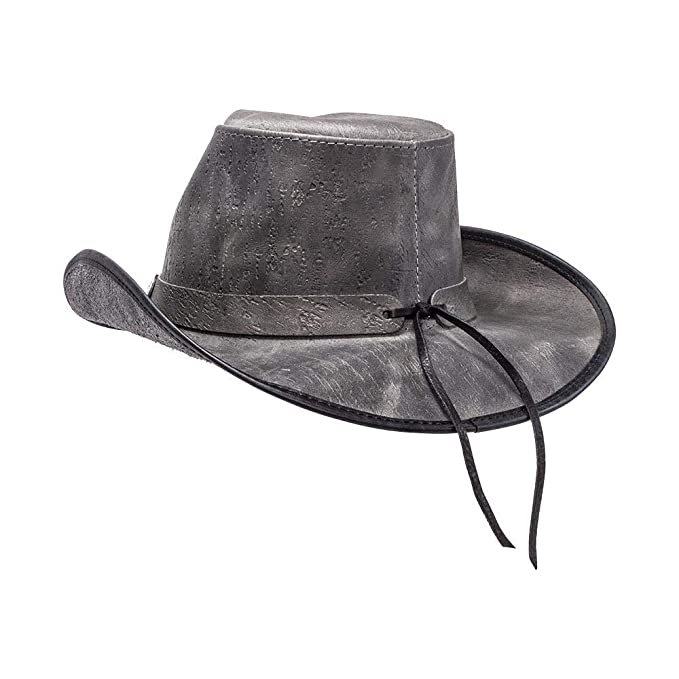 7ae4185207d055 American Hat Makers Cyclone by Double G Hats Western Cowboy Leather Hat at  Amazon Men's Clothing store: